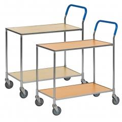 Kongamek Tischwagen wahlweise mit Bremse 760x430mm Ladefläche in Holzoptik