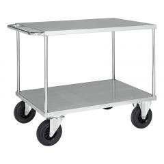 Kongamek Tischwagen 870mm hoch mit verzinkter Ladefläche, wahlweise mit Bremse
