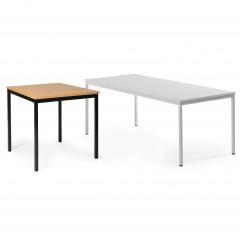 Protaurus Allzweck-Tisch ECO aus beschichtetem Stahl/Kunststoff mit Sperrholz in schwarz oder lichtgrau