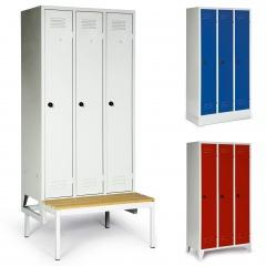 Protaurus Kleiderschrank Classico mit 1-4 Abteilen, festem Sockel, Füßen oder Sitzbank