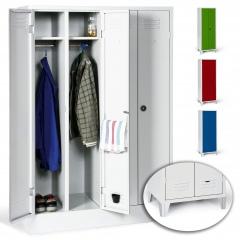 Protaurus Kleiderschrank Classico mit 1-2 Doppelabteilen, festem Sockel oder Füßen
