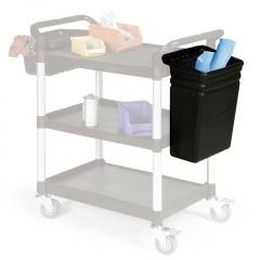 Protaurus Abfallbehälter 470mm hoch schwarz für Etagenwagen