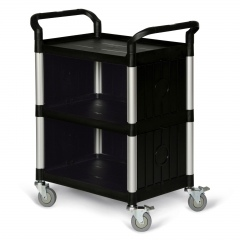 Protaurus Kunststoff- Etagenwagen mit 3 Ladeflächen 3-seitige Verkleidung 680x450mm