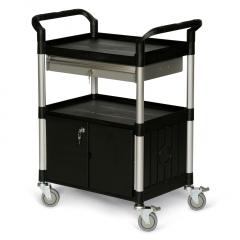 Protaurus Kunststoff- Etagenwagen mit verschließbarem Schrank und Schublade 680x450mm