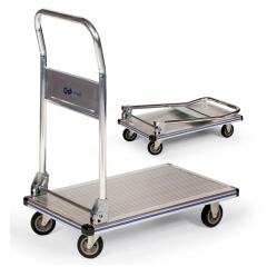 Protaurus Aluminium- Plattformwagen mit klappbaren Rohrschiebebügel