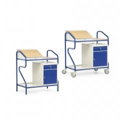 Protaurus Stehpult in Extra-Breite mit Einbauschrank und Schublade
