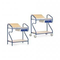 Protaurus Stehpult in Extra-Breite mit Schublade und Boden
