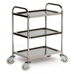 Protaurus Edelstahl -Tischwagen mit 3 Ladeflächen