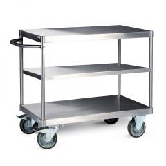 Protaurus Tischwagen mit 3 Ladeflächen aus Edelstahl 600kg Traglast