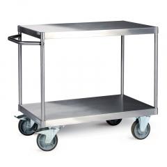 Protaurus Tischwagen mit 2 Ladeflächen aus Edelstahl 600kg Traglast