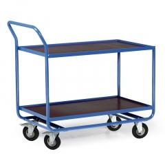 Protaurus Tischwagen Serie R300 mit 2 Ladeflächen und Bordleisten 15mm Stahl 1000x600mm Lufträder Ø200mm