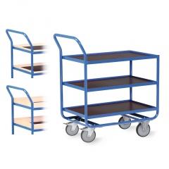 Protaurus Tischwagen Serie R300 mit 3 Ladeflächen 800x500mm und Bordleisten