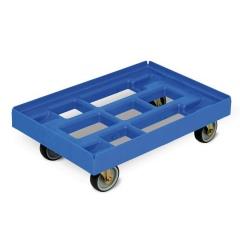 Protaurus Transportroller aus HDPE-Kunststoff in Lichtblau 610x410mm, 4 Lenkrollen