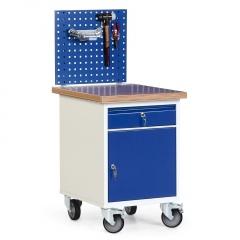 Protaurus Werkstatt-Rollcontainer mit Schrank, 1 Schublade und 35mm Multiplexplatte, optional mit Aufbau