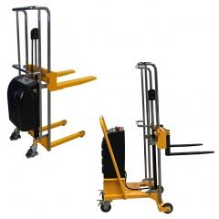 qteck Semi-elektrische Minilifter mit Gabelzinken 550-650mm und 20-1500mm Hubbereich bis 150kg Hubkraft