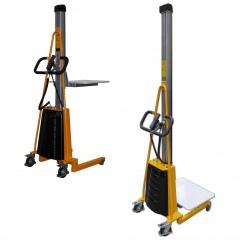 qteck Semi-elektrische Minilifter mit Plattform 470x600mm und 125-2000mm Hubbereich bis 150kg Hubkraft