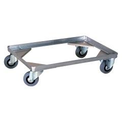 Rollcart Behälter-Fahrgestell ohne Bügel für Transportkisten mit 1 Ladefläche 575x370mm