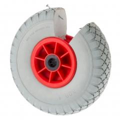 Rollcart geschäumte Polyurethan-Rad blaugrau mit Kunststofffelgen und Blockprofil