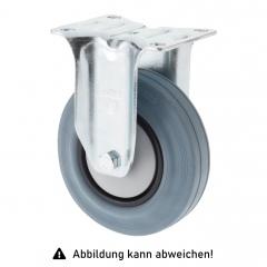 Rollcart TPE-Bockrolle Ø100x32mm in grau 90kg Tragkraft mit Kunststoff-Felge