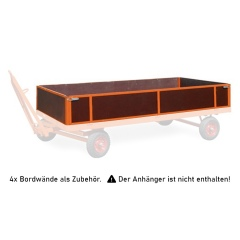 Rollcart 4 Bordwände 400mm hoch für Industrieanhänger als Zubehör
