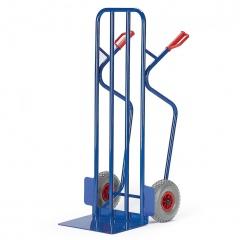 Rollcart Breite Stapelkarre aus Stahlrohr 250kg Tragkraft Vollgummi