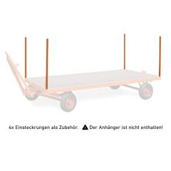 Rollcart 4x Einsteckrungen für Industrieanhänger als Zubehör