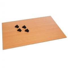 Rollcart Etagenboden mit Halterungen aus Kunststoff
