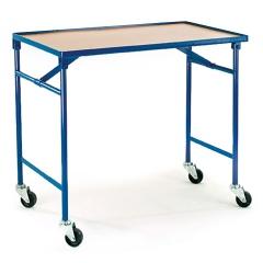 Rollcart Faltbarer Tischwagen 1000x600mm Ladefläche mit Buchedekor