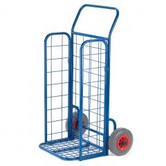 Rollcart Gitterklappkarre mit Seitenwänden 150kg Tragkraft Luftbereifung