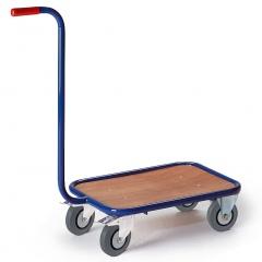 Rollcart Griffroller mit Ladefläche 600x500mm im Buchendekor