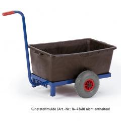Rollcart Griffroller für Kunststoffmulde Ladefläche 670x370mm
