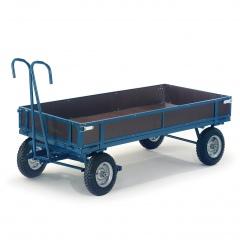 Rollcart Handpritschenwagen mit Holzbordwände Vollgummi/Luft