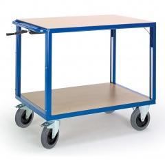 Rollcart Höhenverstellbarer Tischwagen mit 2 Etagen