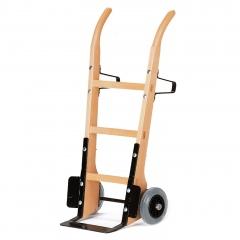 Rollcart Holzsackkarre -120- aus Buchenholz mit Vollgummibereifung 370x140mm Stahlblechschaufel
