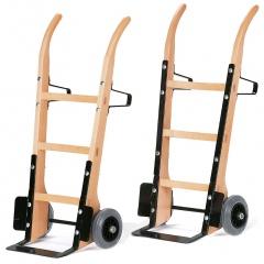 Rollcart Holzsackkarre -120-/-121- aus Buchenholz mit Vollgummi- oder Luftbereifung 370x140mm Stahlblechschaufel