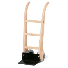 Rollcart Holzsackkarre -100- aus Buchenholz mit Vollgummibereifung 400x100mm Flachstahlschaufel
