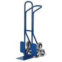 Rollcart Junior-Treppenkarre aus Stahlrohr mit dreiarmigen Radsternen, Schaufelbreite 250mm