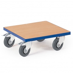Rollcart Kistenroller Vollgummibereifung 500x500mm Ladefläche Holz