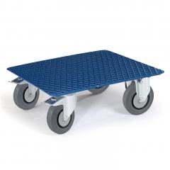 Rollcart Kistenroller Vollgummibereifung 500x500mm Ladefläche Riffelblech