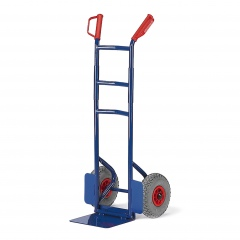 Rollcart Klapp-Stapelkarre aus Stahlrohr 300mm Schaufelbreite Vollgummi/Luft