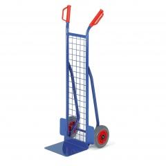 Rollcart kleine Gitter-Stapelkarre aus Stahlrohr 300mm Schaufelbreite Vollgummi