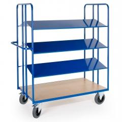 Rollcart Kommissionierwagen mit 4 doppelseitigen Blechladeflächen 2x1350x400mm