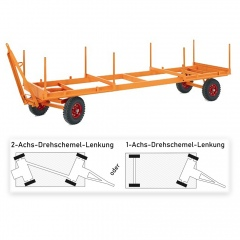 Rollcart Langmaterialanhänger mit Drehschemel-Lenkung 3000-5000kg Tragkraft Vollgummi/Luft