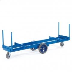 Rollcart Langmaterialwagen 2000kg Tragkraft Elastikvollgummi