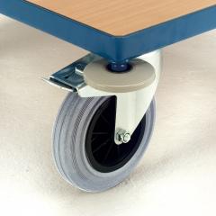 Rollcart Abweisrolle auf allen 4 Ecken Ø100mm als Mehrpreis