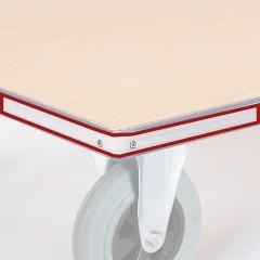 Rollcart Schutzleiste aus Kunststoffprofil um Grundrahmen als Mehrpreis