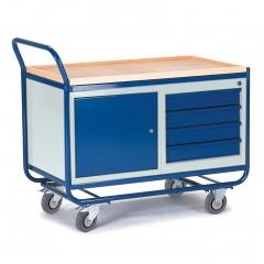 Rollcart Montagewagen mit Stahl- und Schubladenschrank