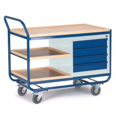 Rollcart Montagewagen mit Schubladenschrank und Ablagen