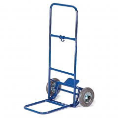 Rollcart Paketroller mit Rohrrückwand Schaufelbreite 330mm Vollgummi/Luft
