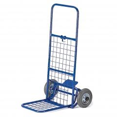 Rollcart Paketroller mit Gitterrückwand Schaufelbreite 330mm Vollgummi/Luft